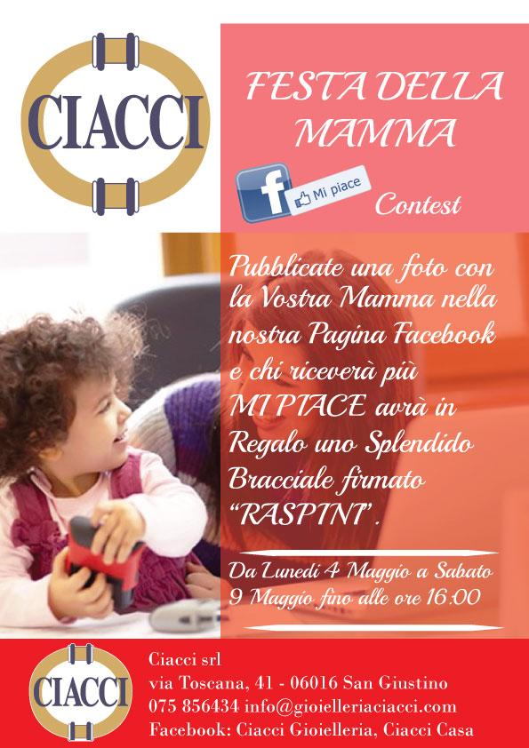 Festa della Mamma MI PIACE CONTEST Ciacci Gioielleria