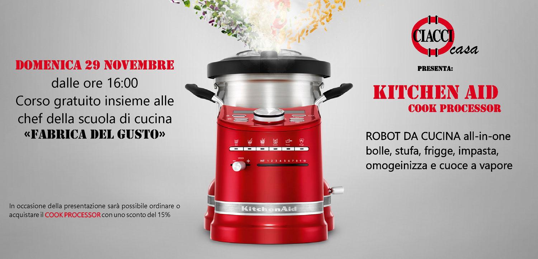 Corso di cucina con il nuovo Food Processor di Kitchen Aid Ciacci