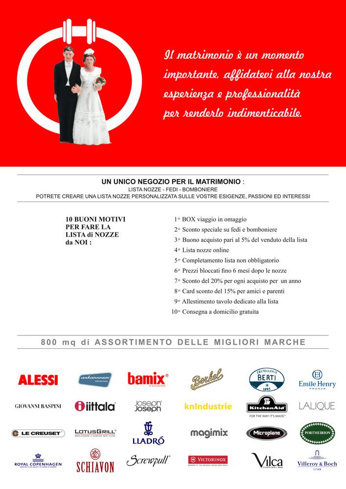 La Lista Nozze Protagonisti I Futuri Sposi : Sposi promozione lista nozze ciacci